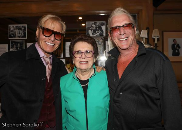Chuck Steffan, Billie Jean King, Ron Abel