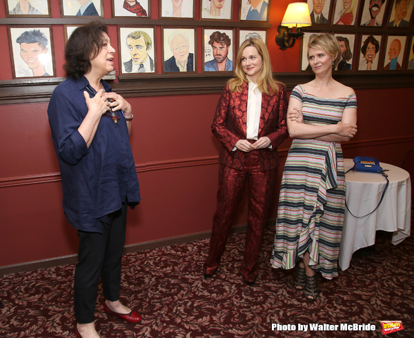 Lynne Meadow, Laura Linney and Cynthia Nixon