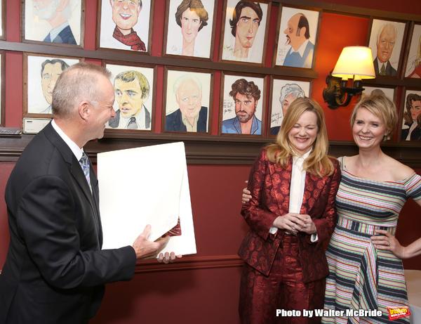 Max Klimavicius, Laura Linney and Cynthia Nixon