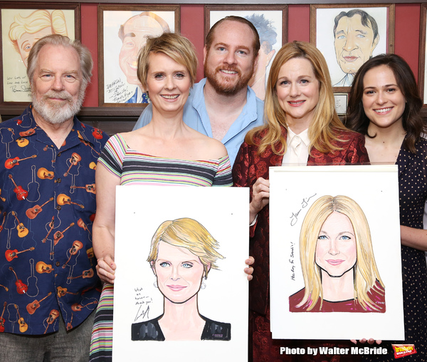 Michael McKean, Cynthia Nixon, Laura Linney, Francesca Carpanini and Michael Benz