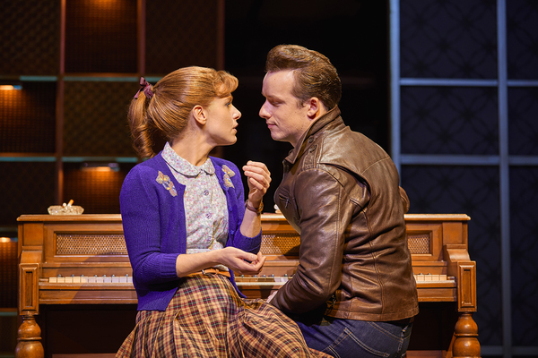 Cassidy Janson (Carole King) and Matthew Seadon-Young (Gerry Goffin) in Beautiful The Photo