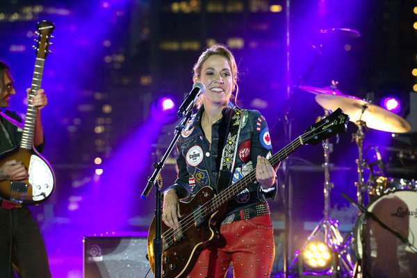 "MACY'S FOURTH OF JULY FIREWORKS SPECTACULAR -- Pictured: Sheryl Crow rehearses for the 2017 ""Macy's Fourth of July Fireworks Spectacular"" -- (Photo by: Virginia Sherwood/NBC)"