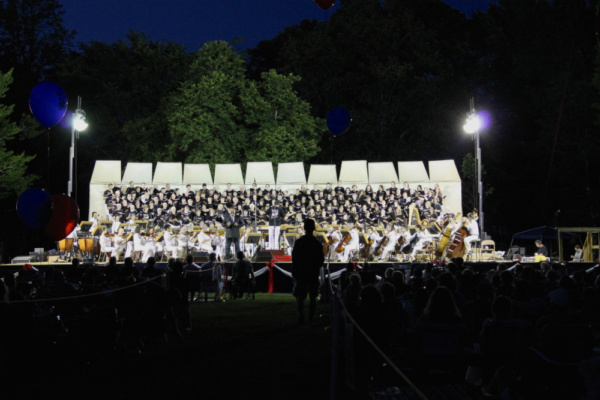 Soloist Andrew Drost performs with the Chorus of Westerly and Summer Pops Orchestra Photo