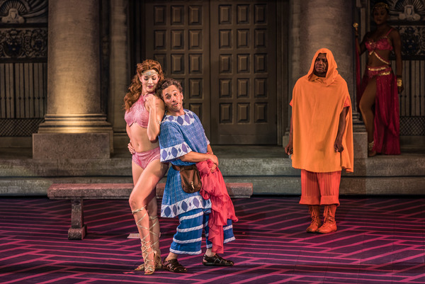 Katelyn Prominski, Jeffrey Schecter and Tommy Scrivens in The Muny's A FUNNY THING HAPPENED ON THE WAY TO THE FORUM.