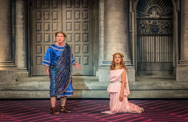 Mark Linn-Baker and Ali Ewoldt in The Muny's A FUNNY THING HAPPENED ON THE WAY TO THE FORUM.