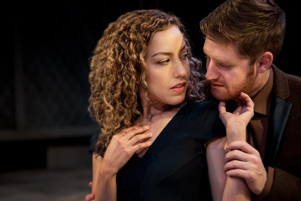 Kate Parr (Lisa Villegas) and Thom Seymour (Blake Weir) Photo