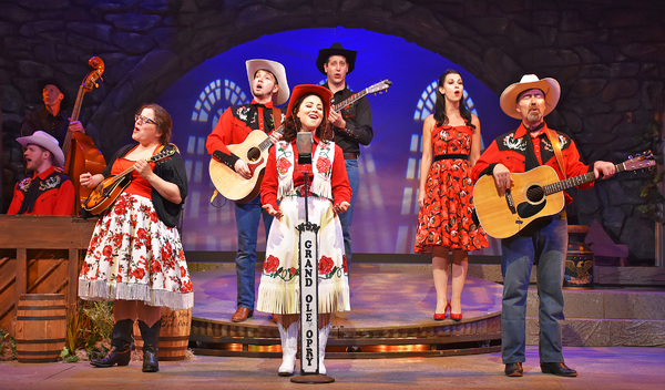 "The cast of Ring of Fire sings ""Oh Come Angel Band� in Beef & Boards Dinner Theatre's production of Ring of Fire, now on stage through Aug. 13. This unique musical tells the story of the incredible life of Johnny Cash using his iconic songbook, to"