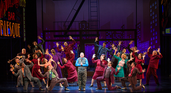 The cast of Guys and Dolls, with music and lyrics by Frank Loesser, book by Abe Burro Photo