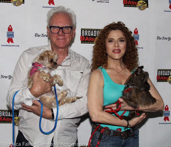 Malcolm McDowell and Bernadette Peters