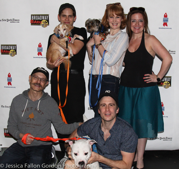 David Hyde Pierce, Taylor Trensch, Kate Baldwin, Gavin Creel and Jennifer Simard