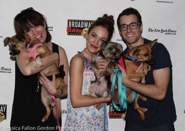 Beth Leavel, Laura Osnes and Corey Cott