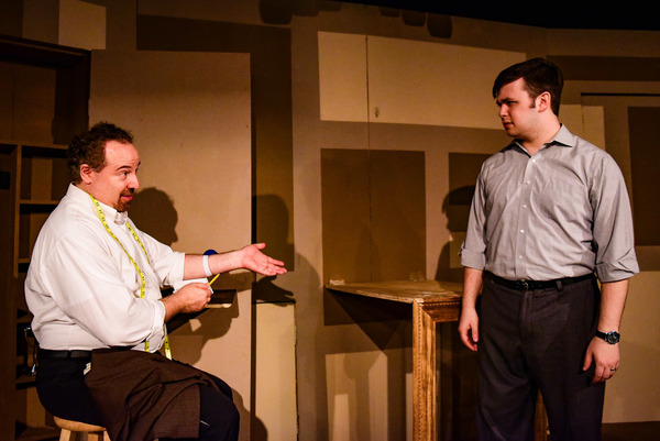 (left to right) Brian Rabinowitz and T. Isaac Sherman in Grippo Stage Company's revival of THE GOD OF ISAAC by James Sherman, directed by Dennis Za�ek. Photo by Evan Hanover.