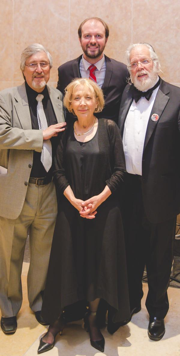 Moishe Rosenfeld, Bryna Wasserman, NYTF CEO Christopher Massimine, Zalmen Mlotek Photo