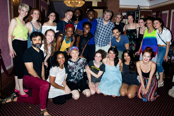 The cast of THE GREAT COMET with Phillipa Soo