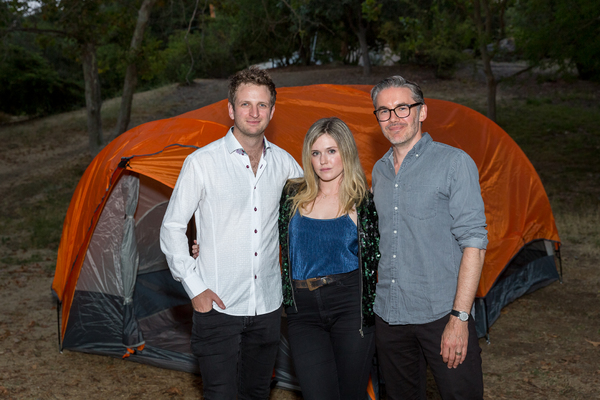 (L-R) KILLING GROUND cast members Aaron Glenane, Harriet Dyer and filmmaker Damien Power