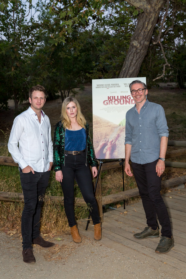 Aaron Glenane, Harriet Dyer and Damien Power.