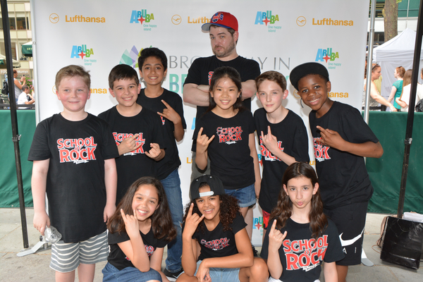 Jonathan Wagner and the School of Rock Kids- Walden Sullivan, Paul Luke Bonenfant, Raqhav Mehrotra, Ruth Righi, Gianna Harris, Ellie Kim, Sammy Ramirez, Rachel Katzke and Terrance Bell, Jr.