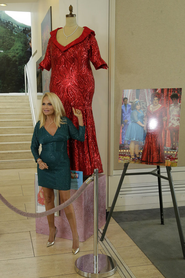 "HAIRSPRAY LIVE! -- ""Paley Center & Hairspray Live! Costume Exhibit Opening"" -- Pictured: Kristin Chenoweth at the Hairspray Live! Costume Exhibit in Beverly Hills, April 21, 2017 -- (Photo by: Paul Drinkwater/NBC)"