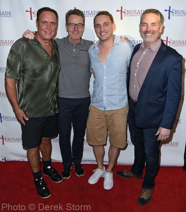 James Kiberd, Ben Curtis, Bryan Cranston and Dewey Moss Photo
