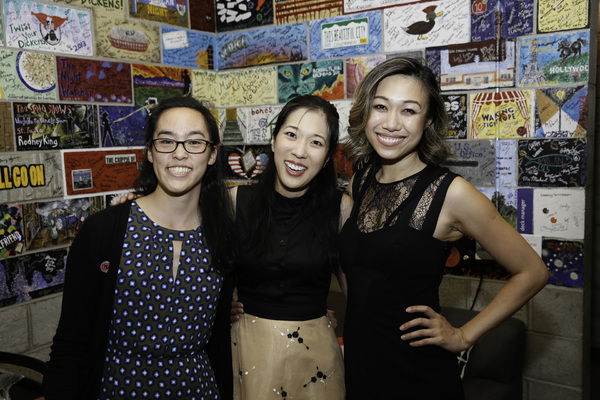 Playwright Lauren Yee and cast members Stephenie Soohyun Park and Angela Lin