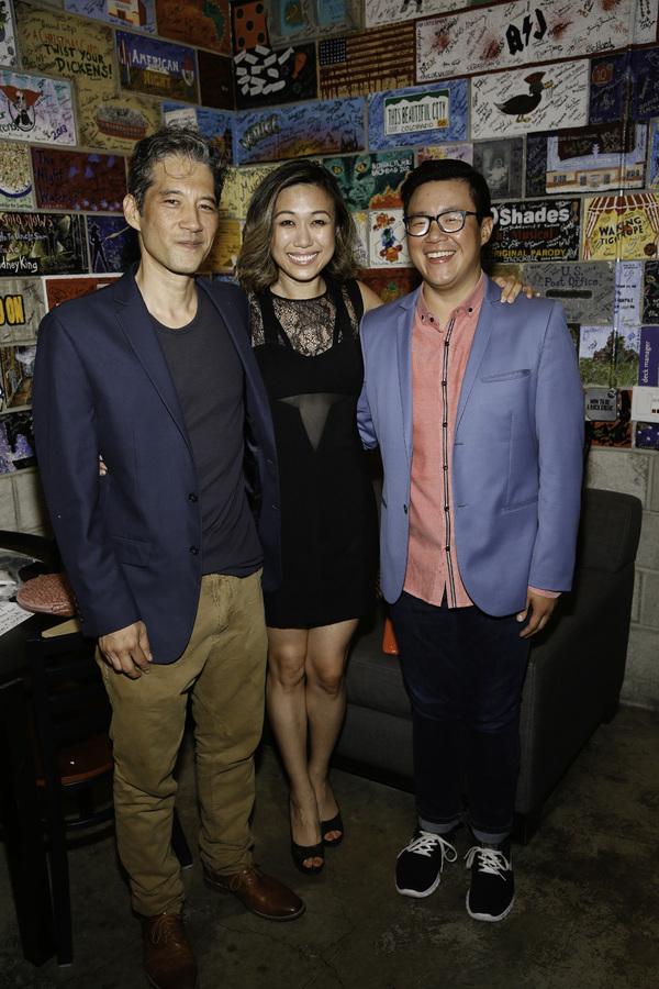 Cast members Daniel Smith, Angela Lin and Rammel Chan