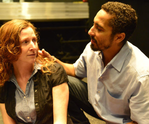 Lizzie Curry (Jessica Bates) and Starbuck (Brian Homer) Photo