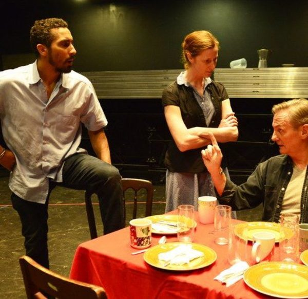 Starbuck (Brian Homer), Lizzie Curry (Jessica Bates) and H.C. Curry (David DeBeck) Photo