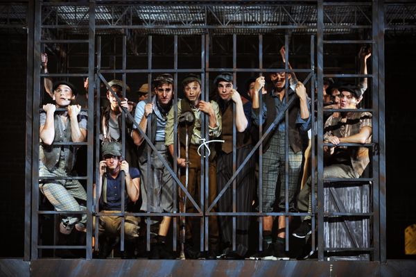 The cast of NEWSIES at Pittsburgh CLO