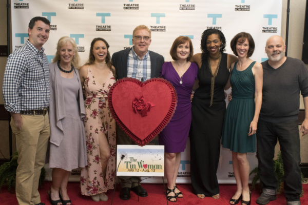 Doogin Brown, Annabel Armour, Kayla Kennedy, Sean Grennan (playwright), Erin Noel Grennan, Jeri Marshall, Linda Fortunato (artistic ) and Steve Pickering on Opening Night at Theatre at the Center in M