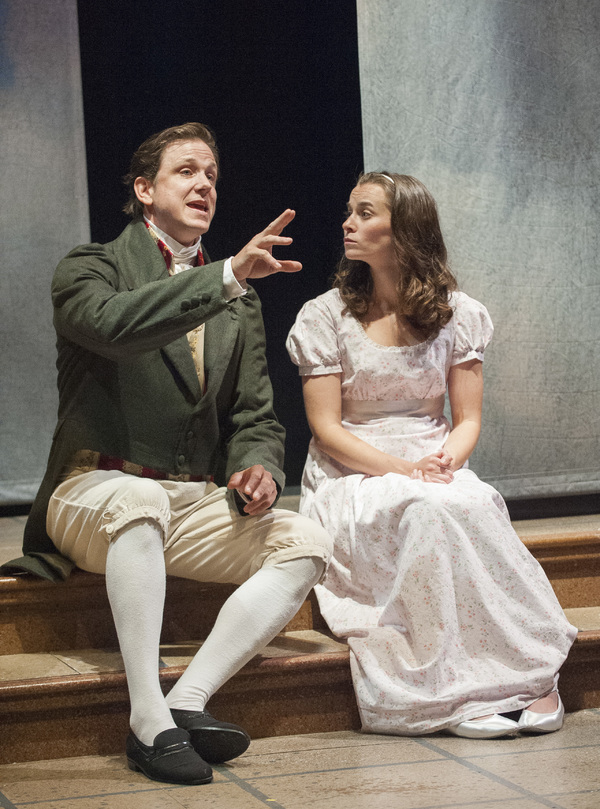 Andrew William Smith (Septimus Hodge), Caitlin Duffy (Thomasina Coverly) Photo