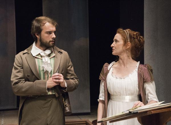 Sebastian LaPointe (Richard Noakes), Megan Byrne (Lady Croom) Photo