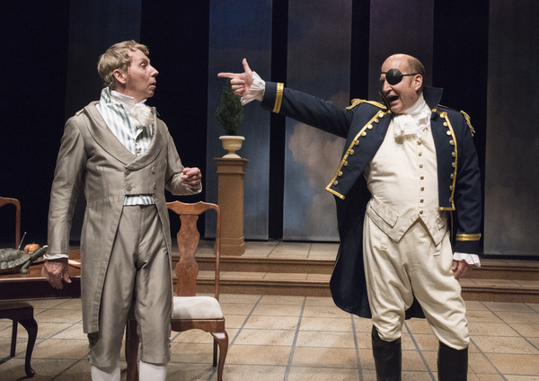 Jonathan Tindle (Ezra Chater), Steven Dykes (Captain Brice) Photo