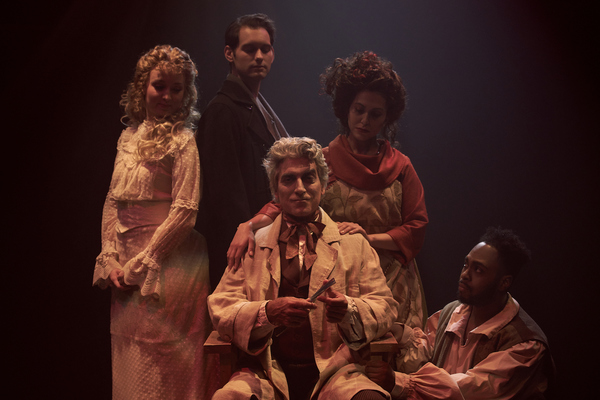 Johanna (Kelly Gabrielle Murphy), Anthony Hope (Quinn Corcorcan) Emily Kron (Mrs. Lovett), Tobias Ragg (Ryan Gregory Thurman) and Sweeney Todd (Mark Hardy)
