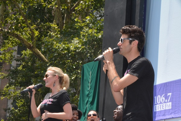 Betsy Wolfe and Drew Gehling