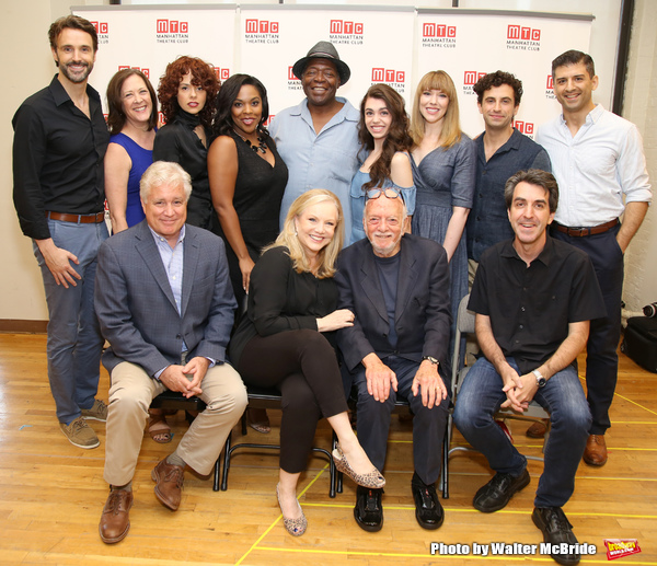 First Row: David Thompson, Susan Stroman, Hal Prince and Jason Robert Brown. Second Row: Michael Xavier, Karen Ziemba, Janet Dacal, Bryonha Marie Parham, Chuck Cooper, Kaley Ann Voorhees, Emily Skinner, Brandon Uranowitz and Tony Yazbeck attends the Meet