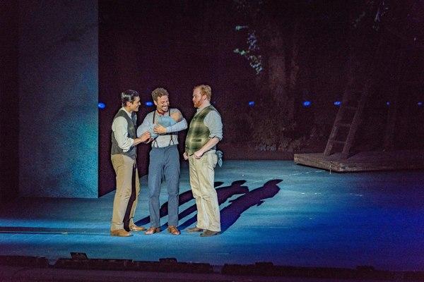 Paolo Montalban, Justin Guarini, and David Abeles