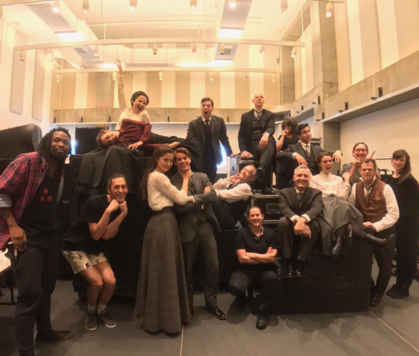 Of Human Bondage (Off-Broadway): @soulpeppertheatre A little Saturday Intermission fun from the cast AND crew of Of Human Bondage (...minus Gregory Prest who remains on stage during intermission!) #SoulpepperNYC #newyork #newyorkcity #nyc #nyctheatre #nyc