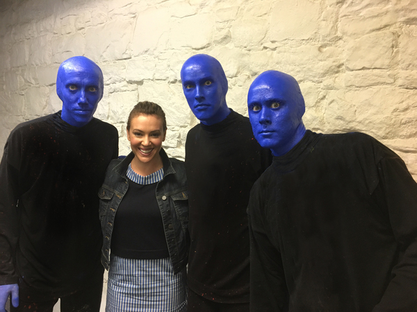 Photo flash alyssa milano visits blue man group in nyc - Blue man group box office ...