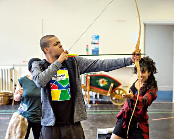 Photo Flash Inside Rehearsal For Robin Hood The Arrow Of