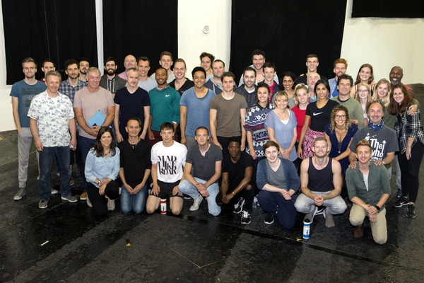 The UK touring cast of WAR HORSE on the first day of rehearsals