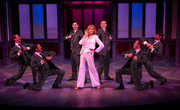 Corinne Melançon (Violet Newstead) and the cast of 9 to 5 the Musical