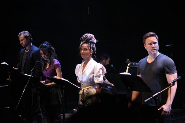 Jon Robert Hall, Ashley Argota, Tamyra Gray, and Scott Porter Photo