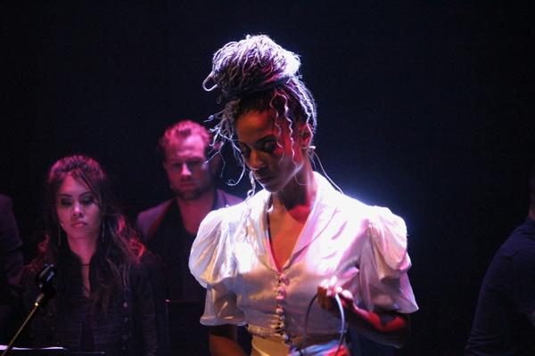 Tamyra Gray (with Ashley Argota and Jon Robert Hall)