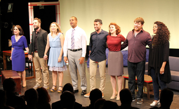 Pictured Left to Right:  The Curtain Call:  Stephanie D'Abruzzo, Devon Goffman Grace Leszynski, Kyle Robert Carter, Nic Cory, Claire Neumann, Peyton Crim, Grace Hightower De Niro.