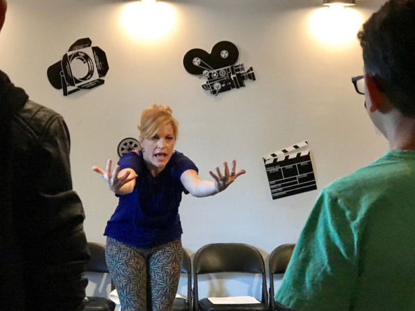 Felicia Finley teaches a class about movement for the actor at Actors Connection Performing Arts Camp.