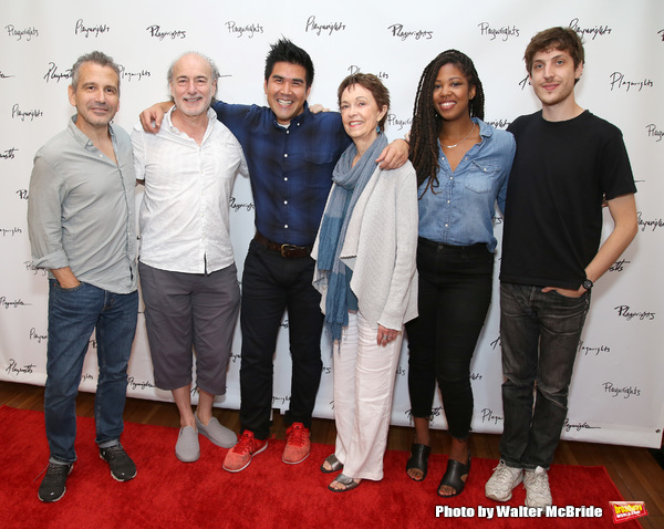 Director David Cromer, Peter Friedman, Pun Bandhu, Deanna Dunagan, Marinda Anderson and playwright Max Posner