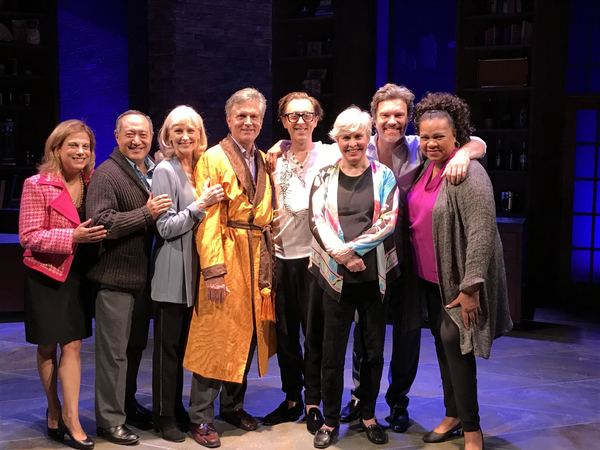 Photo Flash: Alan Cumming Visits Nancy Opel and the Cast of CURVY WIDOW Off-Broadway