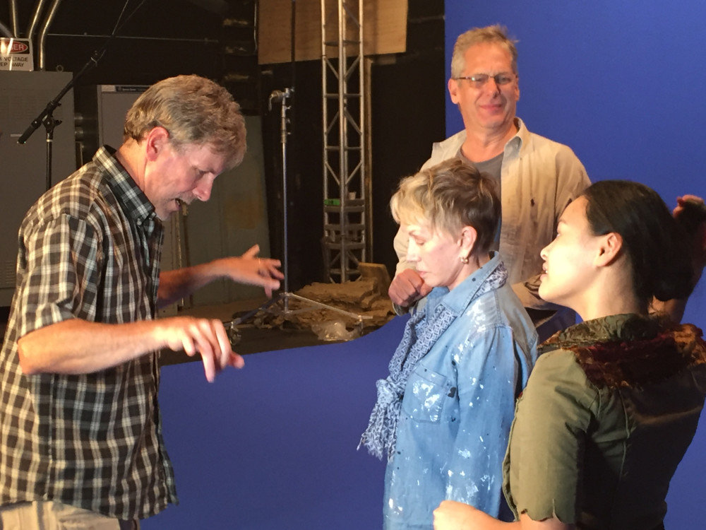 Mark Holleran and Scott Bryce give direction on the video to Sandy ...