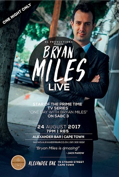 Countdown Continues to BRYAN MILES: LIVE at the Alexander Upstairs this August