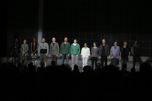 """The cast during the curtain call for the opening night performance of """"The Curious In Photo"""